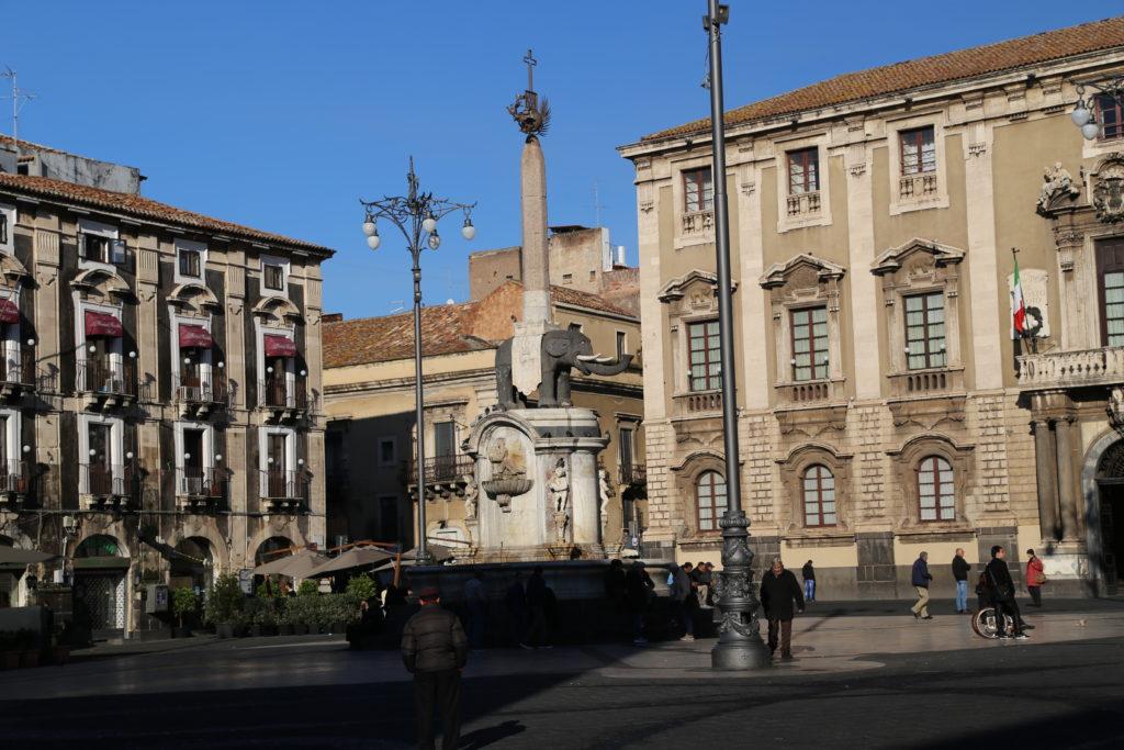Piazza del Duomo, la fontana dell'elefante.