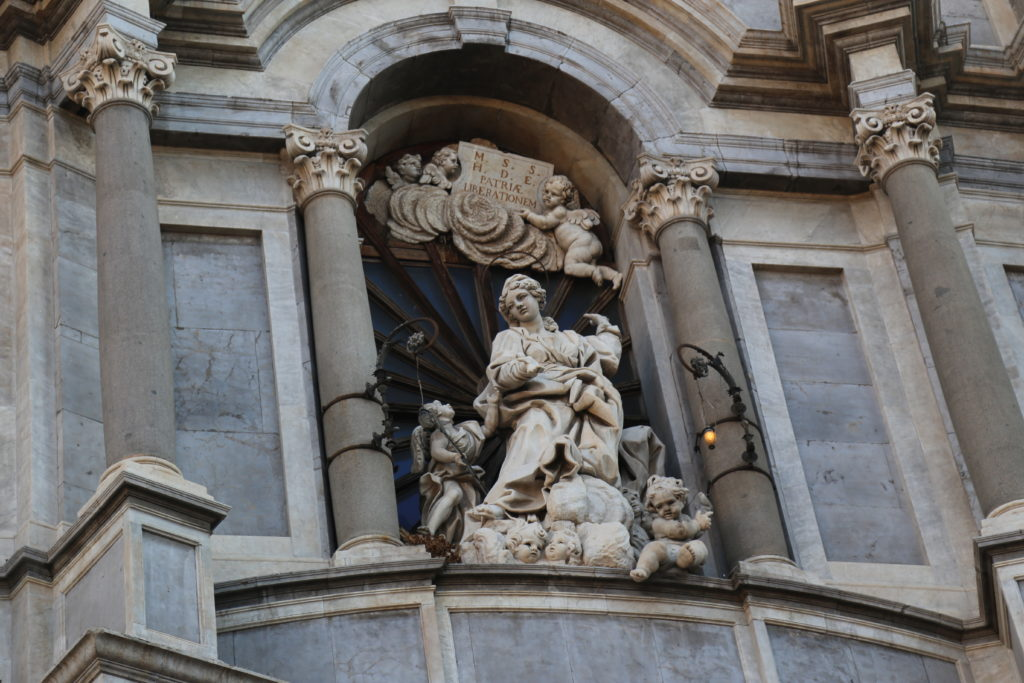 Piazza particolare della Cattedrale di Sant'Agata.