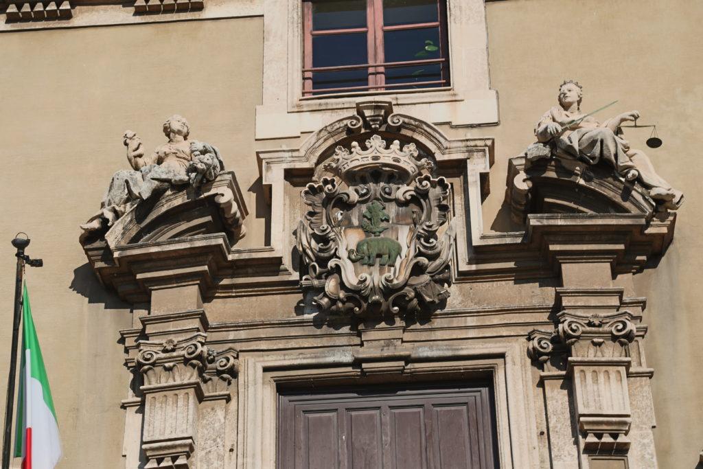 Palazzo del Municipio - Lo stemma della Città.