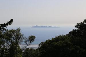 L'isola di Favignana vista da Erice