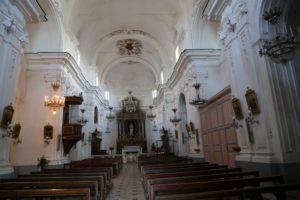 L'interno di una chiesetta