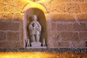 Particolare del santuario di San Vito.