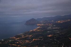 Panorama su monte Cofano.
