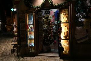 Un negozio di souvenir.