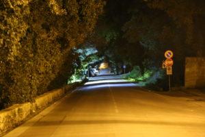 Uno scorcio – L'imbocco della strada per Trapani.