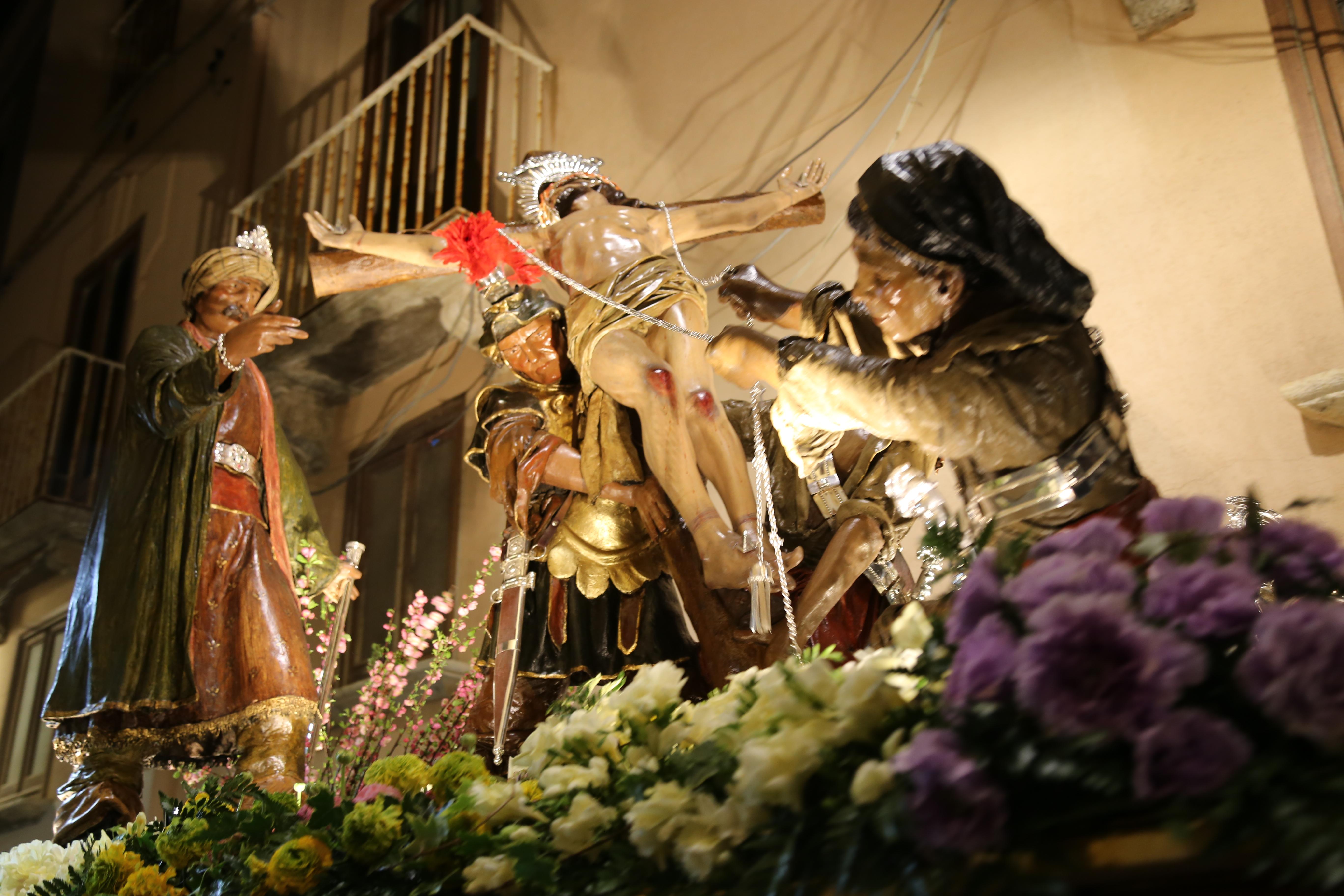 La processione di Misteri del venerdì Santo