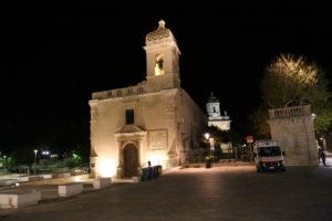 Chiesa di San Vincenzo Ferreri e Ingresso al Giardino Ibleo.