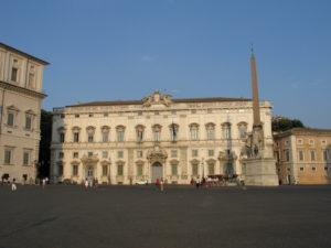 Piazza del Quirinale e Palazzo del Quirinale.