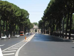Via di San Gregorio e Arco di Costantino.