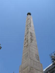 Obelisco di piazza Montecitorio.
