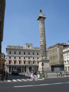 Piazza Colonna e Colonna di Marco Aurelio.