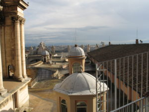 Basilica di San Pietro, sui tetti.