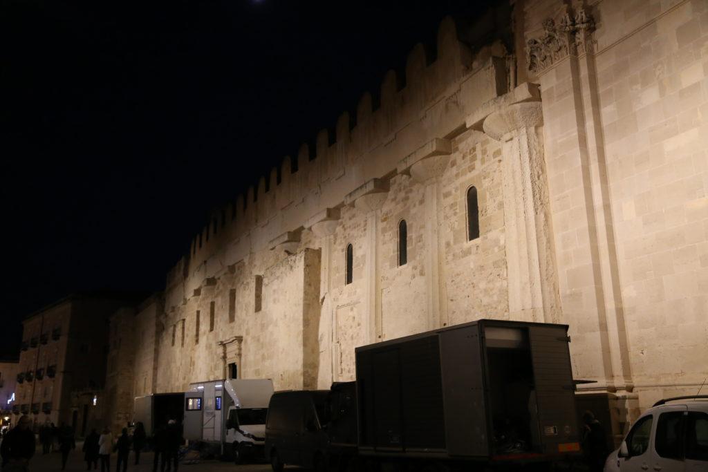 Isola di Ortigia, piazza Minerva, la parete esterna del Duomo.