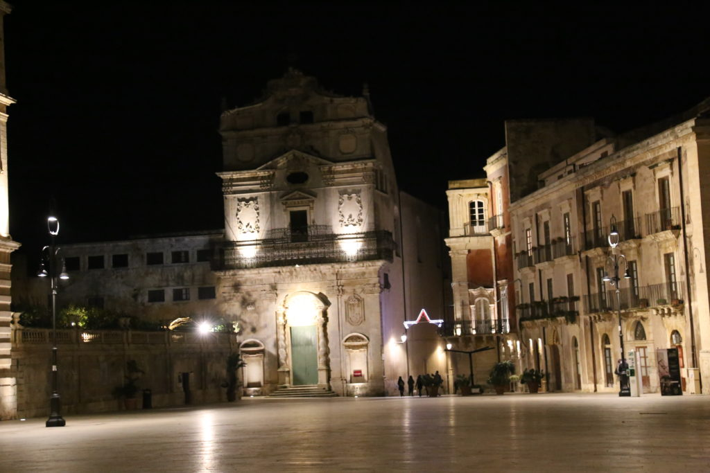 Isola di Ortigia, Piazza Duomo, chiesa di S. Lucia alla badia.