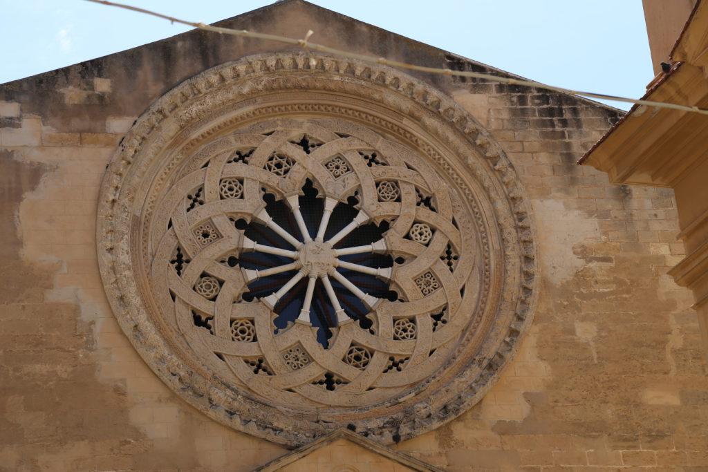 Chiesa di Sant'Agostino, il rosone.