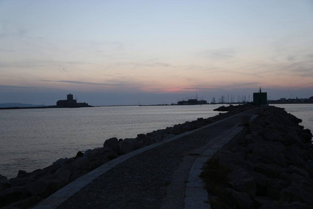 La Colombaia al tramonto.