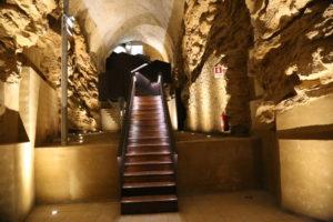 La cripta del vecchio castello.