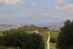 L'Etna visto da Piazza Armerina - Parco archeologico di Morgantina