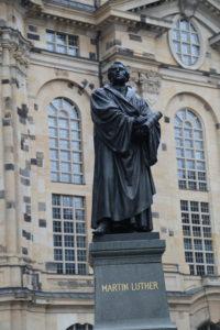 La statua di Martin Lutero.