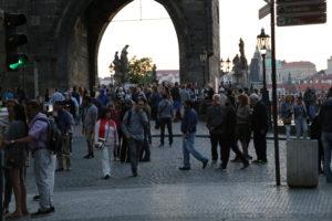 L'inizio di Ponte Carlo.