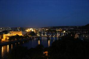 Praga e la Moldava.