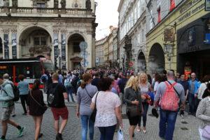 In giro per Praga.