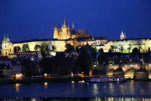 La Moldava e il Castello.