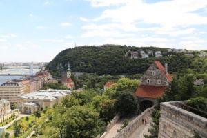 La collina Gellert vista dal Castello.