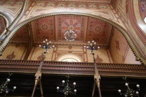 Sinagoga grande di Budapest, interno.