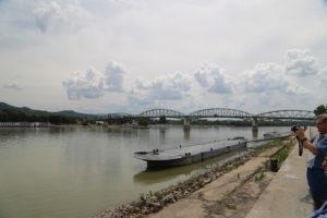 Esztergom, il ponte che collega l'Ungheria alla Slovacchia.
