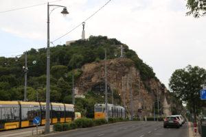 La collina Gellert, in cima la Citadella.