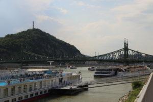 La collina Gellert e il Ponte della Libertà.