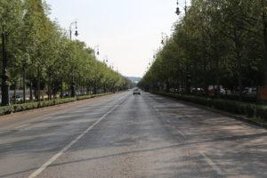 Viale Andrassy con piazza degli Eroi.