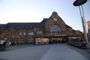 La stazione ferroviaria.