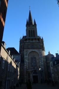 La Cattedrale di Aquisgrana, ingresso.