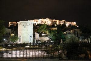 La Torre dei Venti e l'Acropoli.
