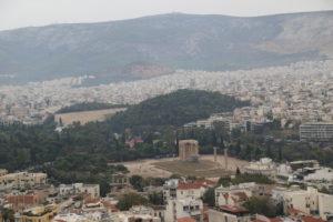 Tempio di Zeus Olimpio e Stadio Panatenaico.