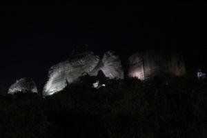 Il paesaggio delle Meteore visto da Kalambaka.