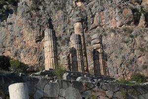Le colonne del tempio di Apollo.