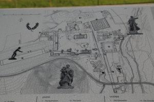 Pianta del Sito archeologico di Olimpia.