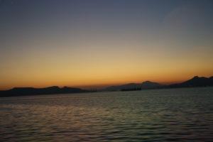 Tramonto sull'Egeo.