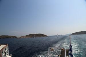 Nell'Egeo verso Poros.