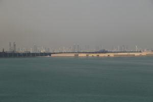 Skyline di Manama dal porto.