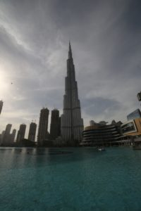 The Dubai Fountain e il Burj Khalifa