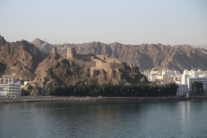 Forte costruito dai portoghesi a difesa dell'Ingresso al porto di Muscat