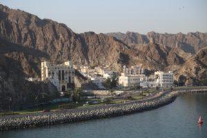 Ingresso al porto di Muscat