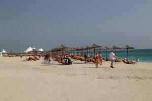 Spiaggia delle navi da crociera di Sir Bani Yas