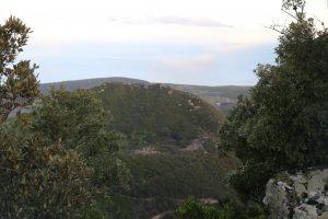 Monte Gibele visto dalla cima di Montagna Grande.