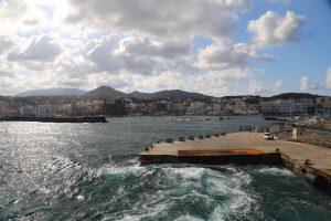 Appena lasciato il porto di Pantelleria Capoluogo.